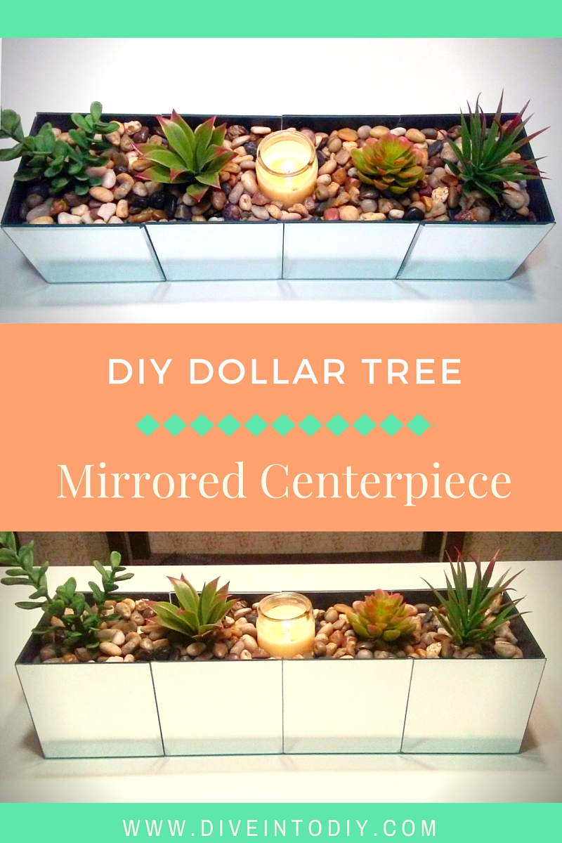 Pinterest Diy dollar tree mirrored centerpiece home decor craft project easy (8)