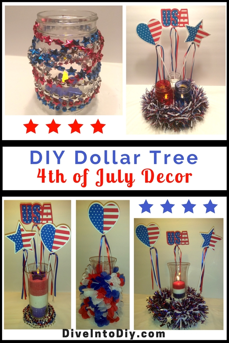 diy dollar tree 4th of july decor dive into diy